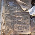 A soggy Bible from the sanctuary. The scripture passage in the picture tells of Jesus' crucifixion and death. A few pages over, that same Bible tells of His resurrection. Jesus rose from the dead, and in a figurative way, so will the Mississippi Gulf Coast.